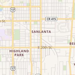 Sanford Florida Map.Sanford Fl Location Information A O K Tire Mart